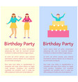birthday party collection vector image