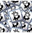 Bitcoin money sticker symbols vector image vector image