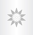 black star with dots vector image vector image