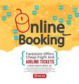 Booking Online vector image vector image