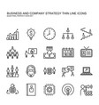 business and company strategy thin line icons set vector image vector image