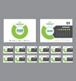 calendar 2020 week start sunday corporate design vector image vector image