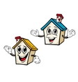 Cartoon houses vector image vector image