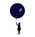 child with a balloon vector image vector image