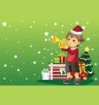 christmas boy vector image vector image