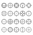 crosshairs icon set on white vector image vector image