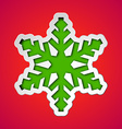 Cut out christmas snowflake vector image vector image