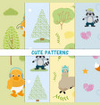 cute animals patterns vector image