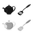 design of kitchen and cook icon collection vector image vector image