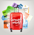 different boarding pass collection and modern vector image vector image