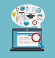 education online concept icons vector image vector image