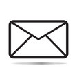 email icon on white background email sign flat vector image vector image
