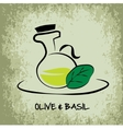 Flask with olive oil vector image