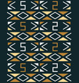geometric seamless pattern in african style vector image vector image