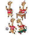 giraffe cartoon set