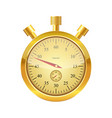 gold glossy stopwatch vector image