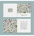 Greeting card floral design vector image vector image
