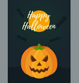 halloween card for celebration holiday vector image vector image