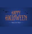 happy halloween night background card vector image vector image
