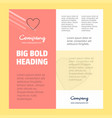 heart business company poster template with place vector image