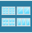 High Quality Aluminium Windows Stainless Steel vector image vector image