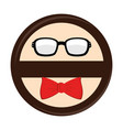 hipster style accesories icon vector image