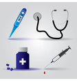 hospital doctor equipment icons eps10 vector image vector image