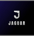initial letter j jaguar leopard tiger cheetah logo vector image