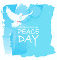 international peace day vector image vector image