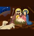 joseph mary and baby jesus vector image