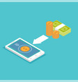 mobile payment e banking online payment use vector image vector image