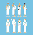 moslem hajj pilgrim modern flat character vector image vector image
