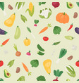 organic vegetables seamless pattern vector image