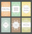 Ornamental Card Templates vector image vector image