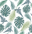 pattern with exotic plant leaves vector image