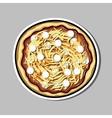 PizzaSticker8 vector image vector image
