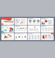 presentation template slides with vector image vector image