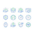 science icons set included icon as world planet vector image vector image