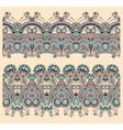 seamless ethnic floral paisley stripe pattern vector image
