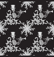 seamless pattern a skeleton in a hat playing vector image vector image