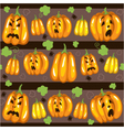 Seamless pattern for Halloween with pumpkins vector image