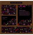 Set of four valentines day business cards on a vector image