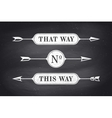 set of vintage arrows and banners with text
