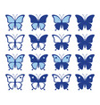shapes pretty butterflies vector image vector image