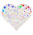 skull fireworks heart vector image