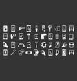 smartphone icon set grey vector image
