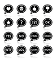 Speech bubble emotion icons - love like anger vector image vector image