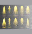 spotlight set bright christmas glowing vector image vector image