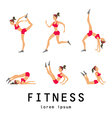 stretching exercises related jogging performed vector image