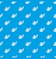 thanksgiving cornucopia pattern seamless blue vector image vector image